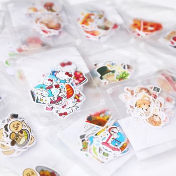 DIY Colorful Animal food 3D kawaii Stickers Diary Planner Journal Note Diary Paper Scrapbooking Albums PhotoTag