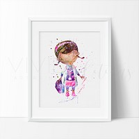 Doc McStuffins Watercolor Art Print