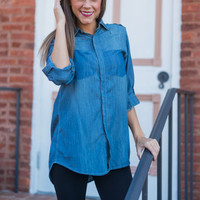 Tricked Out Top, Denim
