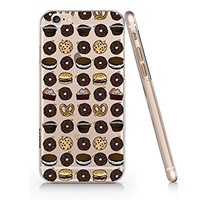 Cute Donuts Clear Transparent Plastic Phone Case for Iphone 6 6s (VA902c)