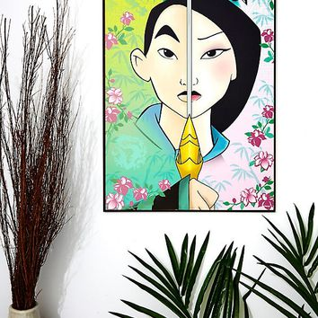Disney Mulan Sword Split Wood Wall Art
