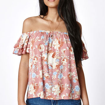 LA Hearts Short Sleeve Off-The-Shoulder Top at PacSun.com