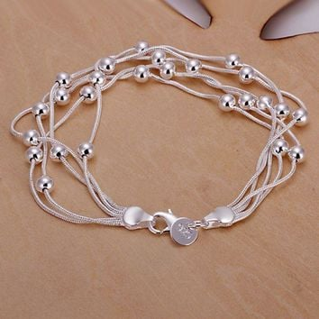925 jewelry silver plated jewelry bracelet fine fashion bracelet top quality wholesale and retail SMTH234