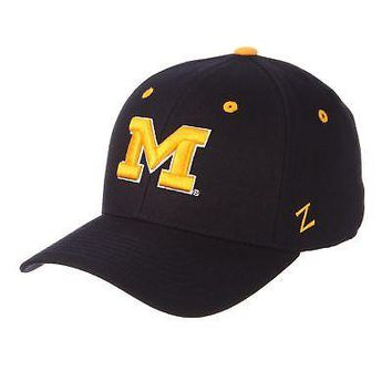 best loved 72c8e dc420 Licensed Michigan Wolverines Official NCAA DH Size 7 1 8 Fitted Hat Cap by  Zephyr