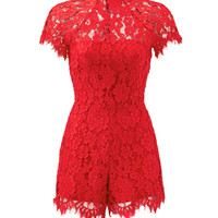Alexis Red Lindsey Romper
