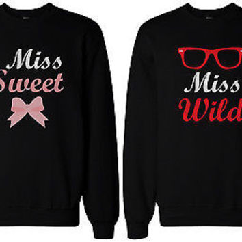 Cute Matching Shirts for Best Friends - Sweet & Wild BFF Sweatshirts, BFF Gift