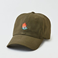 AEO Olive Mix Tape Strapback Hat, Olive