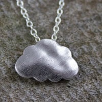 Silver Plated Cloud Necklace