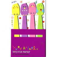 Angry Birds Shaped Memo Post-it Sticker Marker Tabs | Cute Animal Themed Paper Goods