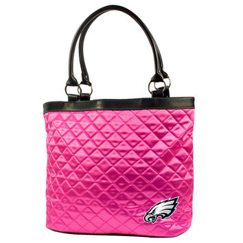 Philadelphia Eagles Pink Quilted Tote