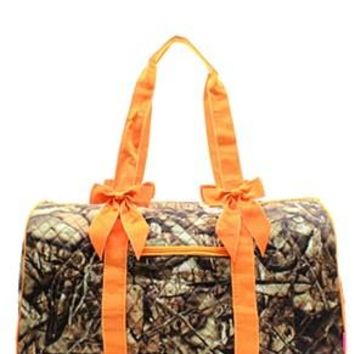 Camo Print Quilted Duffel Bag - 4 Color Choices