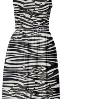 Zebra Print Bubbles Summer Dress