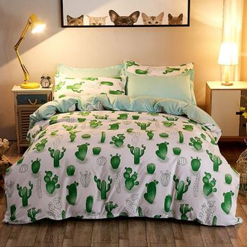 Cactus green Bed Pillowcases Duvet Cover Set Quilt Cover Set Twin Queen King Size 1PC Comforter Cover/2 PCS Pillow Covers
