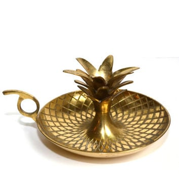 Pineapple Decor Pineapple Candle Holder Chamber Candlestick Pineapple Candlestick Brass Pineapple Candle Holders