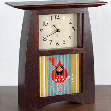 Arts & Crafts Charlie Harper Autumn Edibles Mantel Clock