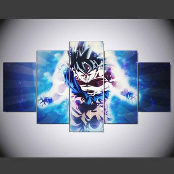 Painting Cuadros Home Decoration HD 5 Pieces/Set Anime Dragon Ball Goku Canvas Wall Art Modular Pictures For Living Room Prints
