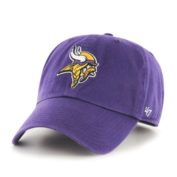 Minnesota Vikings Adjustable Clean Up Slouch Hat by 47 Brand