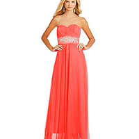 Sequin Hearts Sweetheart Trim Waist Gown | Dillards.com