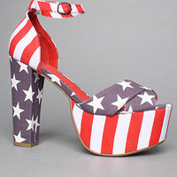 The El Carmen Shoe in Stars and Stripes by Jeffrey Campbell Shoes | Karmaloop.com - Global Concrete Culture