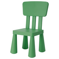 MAMMUT Children's chair - dark green  - IKEA