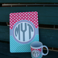 PERSONALIZED Clipboard with Matching Ceramic Coffee Mug - Coach, Teacher, Executive, Office stationary