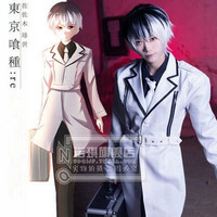 HOT New Japanese Anime Tokyo Ghoul Sasaki Haise Cosplay Costume Ken Kaneki Wind Coat Custom Made