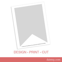 Party Printable Template - Large DIY Banner Flag Design Template by daintzy