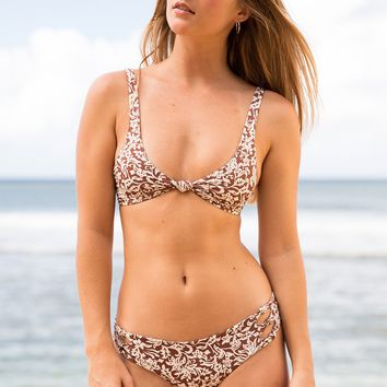 ACACIA Swimwear 2019 Spain Top in Brown Batik