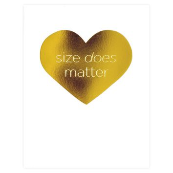 Size Does Matter Card