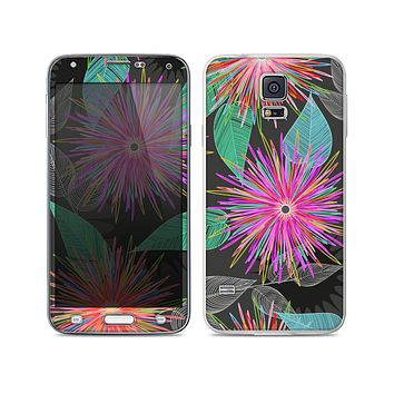 The Bright Colorful Flower Sprouts Skin For the Samsung Galaxy S5