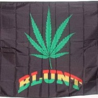 NEW 3x5 Marijuana Blunt Flag 3 x 5 Pot Leaf Weed Banner
