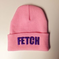 Fetch Pink Fold Over Beanie - Women - Beauty Forever - Brands - Paper Alligator