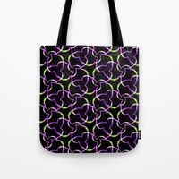 Neon Abstract Pattern Tote Bag by kasseggs