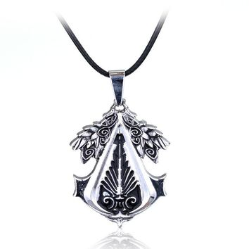 Hot Sell Assassins Creed Ottoman necklace alloy antique silver necklece