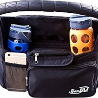 #1 Stroller Organizer - The Best Stroller Accessory For Storage & Cup Holder For Drinks - Makes A Great Baby Shower Gift