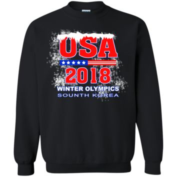 Winter Olympics 2018 Team USA tshirt G180 Gildan Crewneck Pullover Sweatshirt  8 oz.