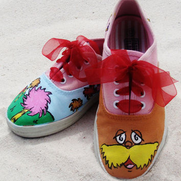 Dr Seuss' 'The Lorax' Hand Painted KEDS or by GingerSnapOriginals