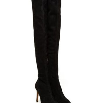 AZZEDINE ALAÏA | Thigh High Suede Boots | brownsfashion.com | The Finest Edit of Luxury Fashion | Clothes, Shoes, Bags and Accessories for Men & Women