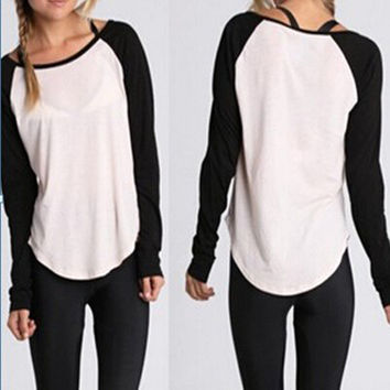 Autumn Long Sleeve Tops T-shirts [6048235713]