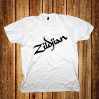 Tshirt ~ AJ Available : Zildjian logo Shirt, Black & White.
