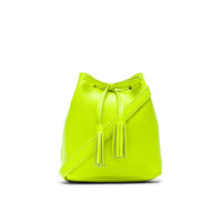 Shaffer The Greta Bucket Bag in Fluorescent Yellow