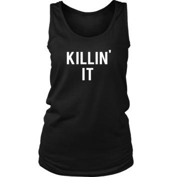 Killin' It Funny Gym Workout Fitness Running Spin Class Tank Top