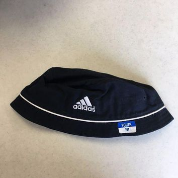 ESBONC. BRAND NEW ADIDAS NAVY BUCKET HAT YOUTH FIT SHIPPING