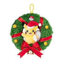 Pikachu Plush Christmas Wreath Pokemon Center Original Version