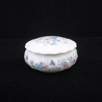 Vintage Wedgwood Trinket Box, Wedgwood Angela Trinket Box, Pink Blue Lavender Wedgwood Bone China Trinket Box