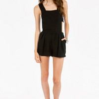 Carley Cutout Overall Shorts $33
