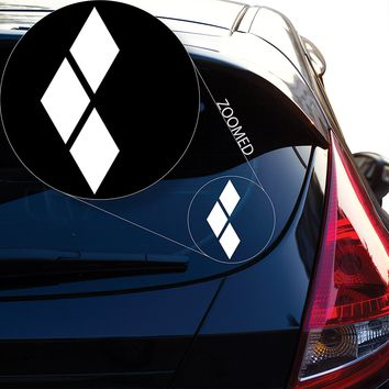 """Batman inspired Harley Quinn Decal Sticker for Car Window, Laptop and More. # 830 (4"""" x 1.6"""", White)"""