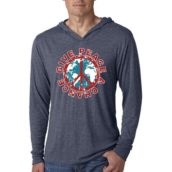 Peace T-shirt Give Peace a Chance Lightweight Hoodie
