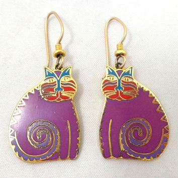 "Vintage LAUREL BURCH ""Mythical Cats"" Earrings"