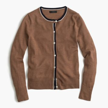 Tipped lightweight wool Jackie cardigan sweater : Women Cardigans & Shells | J.Crew